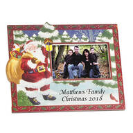 Personalized Santa's Surprise Christmas Frame Horizontal