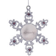 Personalized Birthstone Snowflake Pewter Ornament