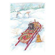 Wintertime Fun Non- Personalized Christmas Card set of 20