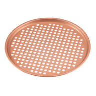 "12 1/2"" Ceramic Copper Pizza Pan"