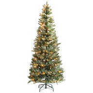 6-Foot Blue Spruce Tree with Lights by Holiday Peak™