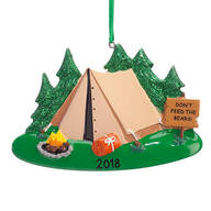 Personalized Camping Ornament
