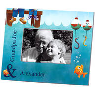 Personalized Gone Fishing Decorative Photo Frame