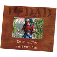 Personalized Wood Grain Photo Frame – I Love Dad Frame