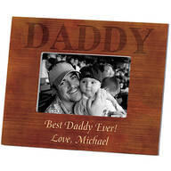 Personalized Picture Frame for Dad – Wood Grain Frame