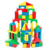 Melissa & Doug® 100-Piece Wood Blocks Set