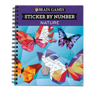 "Brain Games™ ""Nature"" Sticker By Number Book"