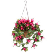 Fully Assembled Fuchsia Basket by OakRidge™