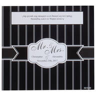 Personalized Candy Bar Wrappers Stripe Wedding, Set of 24