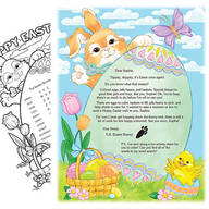 2021 Letter and Sheet of Stickers Gift From Easter Bunny