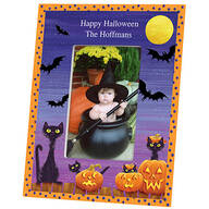 Personalized Cats, Bats and Boo Halloween Photo Frame