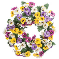 "14"" Pansy Wreath by OakRidge™"