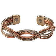 Magnetic Cuff Copper Braid Bracelet