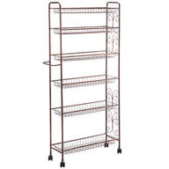 Rolling Antique Wire Slim Storage Cart by Home Marketplace