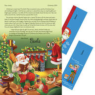 Personalized Santa Letter and 2 Personalized Bookmarks