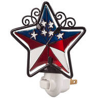 Patriotic Barn Star Night Light