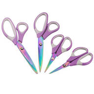 Purple Titanium Scissors, Set of 4