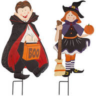 Metal Trick-or-Treat Girl and Boy by Fox River Creations™