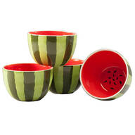 Ceramic Watermelon Bowls Set of 4 by William Roberts