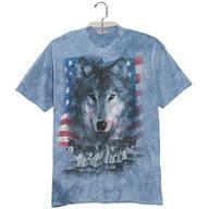 Patriotic Wolf Pack T Shirt
