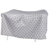 "Trellis Pattern Quilted Table Cover Round, 30""H x 84"" Dia."