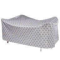 "Trellis Pattern Quilted Table Cover Oval, 108""L x 30""H x 84"""
