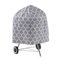 "Trellis Pattern Quilted Kettle Style Grill Cover, 23""H x 27"""