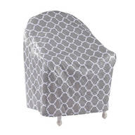 "Trellis Pattern Quilted Chair Cover, 33""L x 33""H x 27""W"