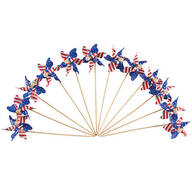 Mini Patriotic Pinwheels, Set of 12