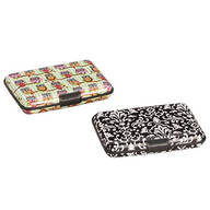 Designer Print RFID Credit Card Case Set/2