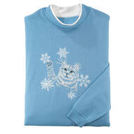 Kitten With Snowflakes Sweatshirt by Sawyer Creek Studio™