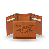 Embossed NFL Leather Trifold Wallet