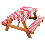 Deluxe Picnic Tablecover with Cushions