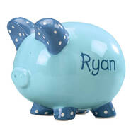 Personalized Kid's Font Piggy Bank