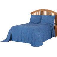 Florence Chenille Bedspread/Sham Full Wedgewood by OakRidge™