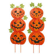 Jack-O-Lantern Metal Stakes Set of 2 by Fox River Creations™