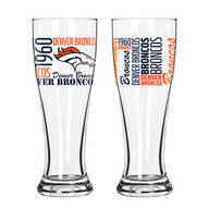 NFL Set/2 Pilsner Glasses