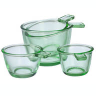 Nostalgia Glass Dry Measuring Cups by Home Marketplace, Set of 4