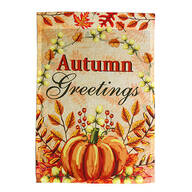 Autumn Greetings Garden Flag