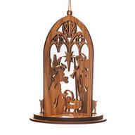 Wood Nativity Scene Ornament