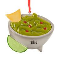 Personalized Guacamole Bowl Ornament