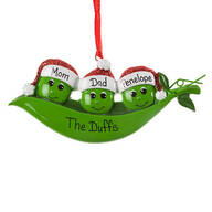Personalized Peas in a Pod Ornament
