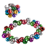Set of Jingle Bell Bracelet and Adjustable Ring