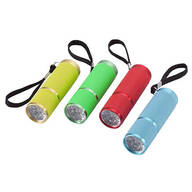 Compact LED Flashlights, Set of 4