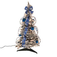 2' Snow Frosted Winter Style Pull-Up Tree by Holiday Peak™