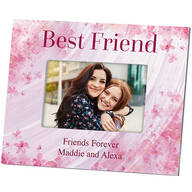Personalized Best Friend Flowers 'a Flutter Photo Frame