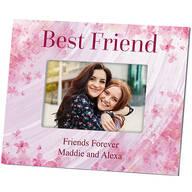 Personalized Flowers-a-Flutter Best Friend Frame