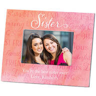 Personalized Sister Word Art Photo Frame