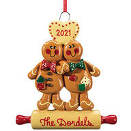 Personalized Gingerbread Couple Ornament