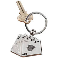 Playing Cards Key Chain